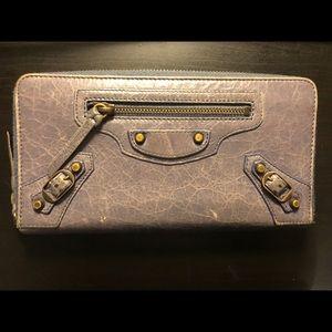 Balenciaga Bags - Balenciaga Zip Around Leather wallet
